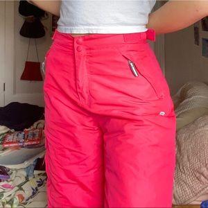 hot pink champion ski pants.